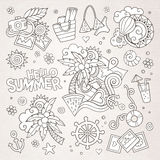 Summer and vacation symbols and objects Stock Photo