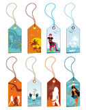 Summer Vacation tags. Royalty Free Stock Images
