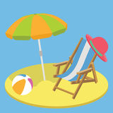 Summer vacation time flat background concept Stock Photo