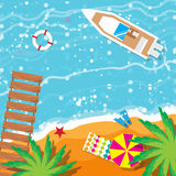 Summer vacation, time to travel. Beach rest. Royalty Free Stock Photography