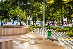 Summer Vacation Town Center After Heavy Rainfall - Turkey royalty free stock photos