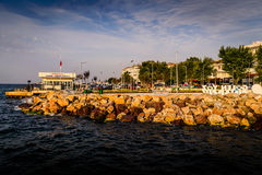 Summer Vacation Town Sea Port. Skyline of a summer town named Cinarcik located in Marmara region of the country Turkey. For such a small region compared to the stock photography