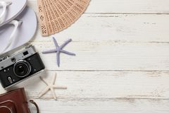 Summer vacation and travel background stock images