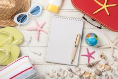 Summer vacation and travel background royalty free stock photos