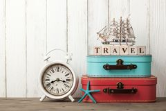 Summer vacation and travel background stock photography