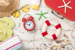 Summer vacation and travel background royalty free stock photography