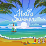 Summer vacation and travel design Stock Image