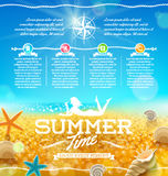 Summer vacation and travel design royalty free illustration