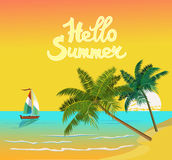 Summer vacation and travel design Stock Photos