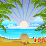 Summer vacation and travel design Royalty Free Stock Image