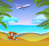 Summer vacation and travel design Royalty Free Stock Images