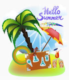 Summer vacation and travel design Royalty Free Stock Photos