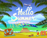 Summer vacation and travel design Royalty Free Stock Photo