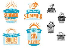 Summer vacation and travel designs Royalty Free Stock Images