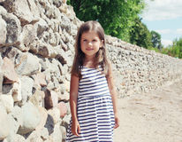 Summer, vacation, travel and people concept - pretty little girl Stock Image