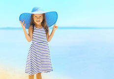 Summer, vacation, travel and people concept - pretty little girl Royalty Free Stock Images