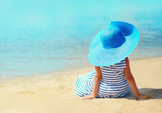 Summer, vacation, travel and people concept - pretty little girl Stock Photos