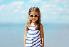 Summer vacation travel portrait little girl Royalty Free Stock Image