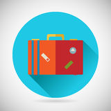 Summer Vacation Trip Symbol Traveler Suitcase Bag Royalty Free Stock Photos