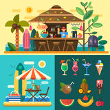 Summer vacation in a tropical country Royalty Free Stock Images
