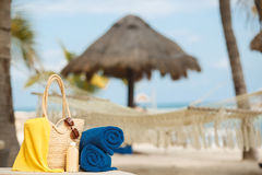 Summer vacation on a tropical island Royalty Free Stock Photo