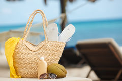 Summer vacation on a tropical island Stock Photos