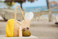 Summer vacation on a tropical island Royalty Free Stock Image