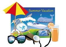Summer vacation in the tropics Royalty Free Stock Photo