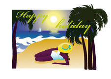 Summer vacation in the tropics Royalty Free Stock Photography