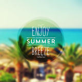 Summer vacation type design Royalty Free Stock Images