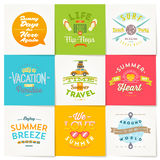 Summer vacation type design Royalty Free Stock Photography