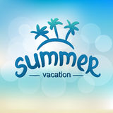 Summer vacation - typographic design Stock Images