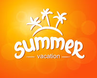 Summer vacation - typographic design Royalty Free Stock Photography