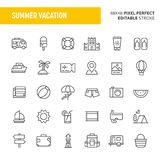 Summer Vacation Vector Icon Set royalty free illustration