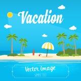 Summer Vacation. Vector illustration wallpaper Stock Images