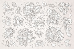Summer and vacation vector symbols and objects Royalty Free Stock Photo