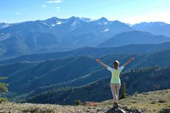 Summer vacation in Washington State. royalty free stock photos
