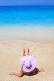 Summer vacation woman on beach Royalty Free Stock Photography