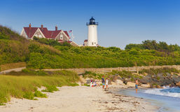 Summer vacation in Woods Hole Stock Photos