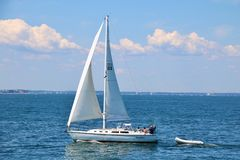 Summer Vacation on a Yacht Stock Image