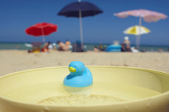 Summer vacations. One summer day on the beach Royalty Free Stock Photography