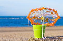 Summer vacations at the beach Royalty Free Stock Photos