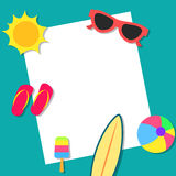 Summer vacations concept background design. Beach summer vacations concept background design Stock Photography