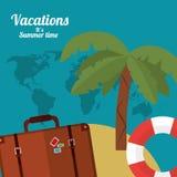 Summer vacations design Royalty Free Stock Photos