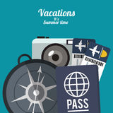 Summer vacations design Royalty Free Stock Images