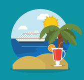 Summer vacations design Stock Photography