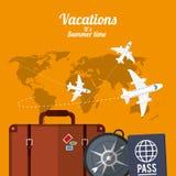 Summer vacations design Stock Photos