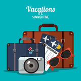 Summer vacations design Stock Images