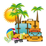 Summer vacations design Royalty Free Stock Photography