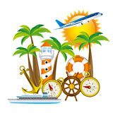 Summer vacations design Stock Photos